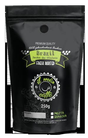 Brazilská káva Brasil Jardim das Oliveiras 100% Arabica - zrnková, mletá káva